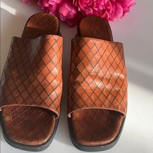 Cole Haan Leather Slides